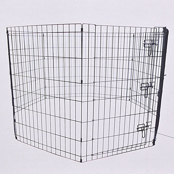 MPETS Foldable Puppy Pen With Door Cage MPets