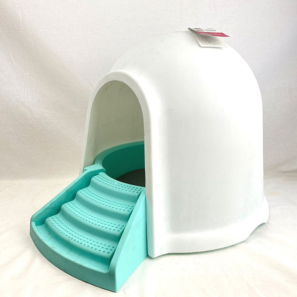 MPETS IGLOO Cat Litter Box 2IN1 Blue Cat Sanitation MPets