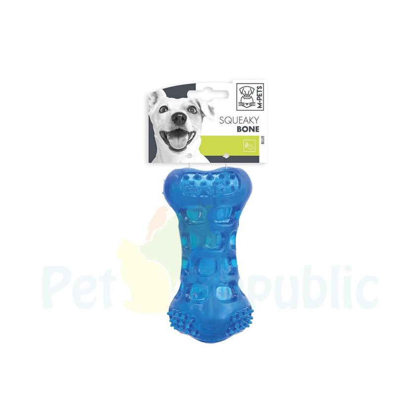Mpets Squeaky Bone Dog Toy Blue 11,8  x 5,8 Cm - Pet Republic Jakarta