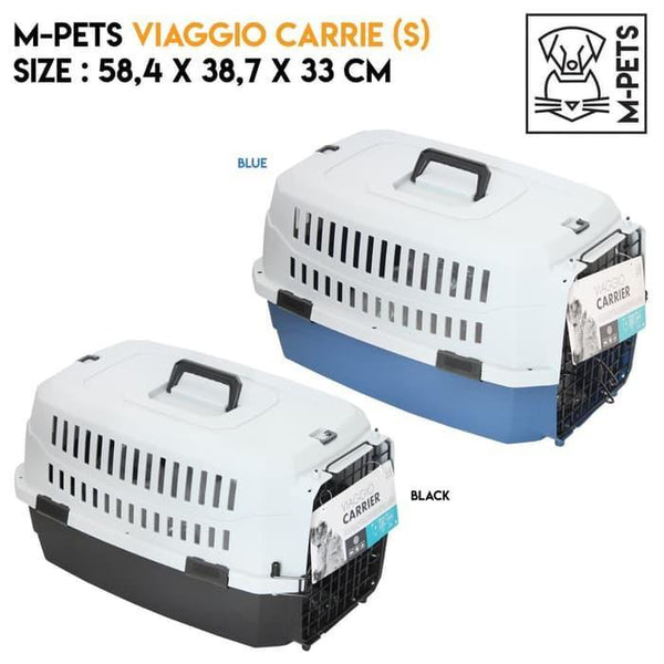 MPETS Viaggio Carrier Small Travel Cage MPets Blue Grey