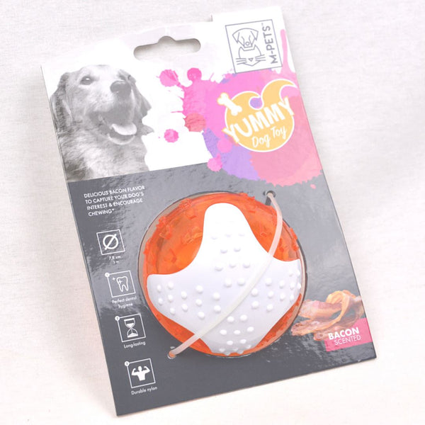 MPETS Yummy Ball With Bacon Flavor Dog Toy MPets