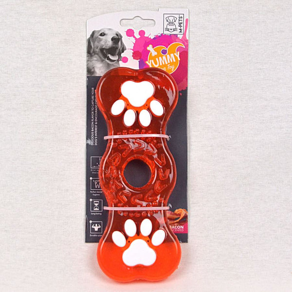 MPETS Yummy Toy Bone With Bacon Flavor 20.3cm Dog Toy MPets