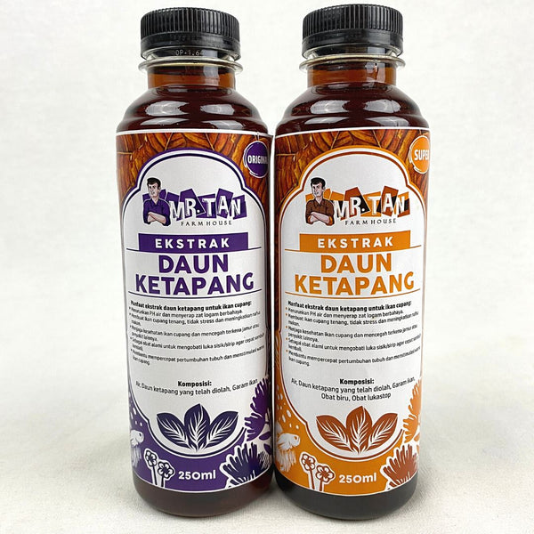 MRTAN Ekstrak Daun Ketapang SUPER 250ml Fish Medicated Care MR.TAN