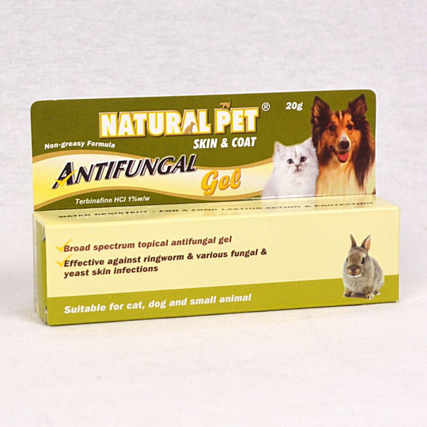 NATURALPET Skin and Coat Antifungal Gel 20gr Grooming Medicated Care Natural Pet
