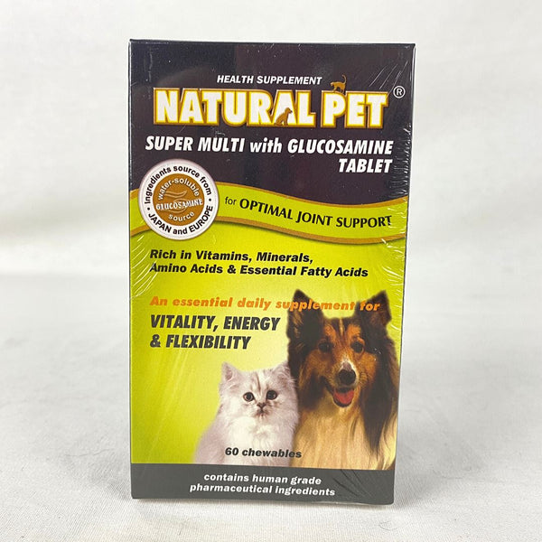 NATURALPET Super Multi with Glucosamine Tablet 60pcs Pet Vitamin and Supplement Natural Pet