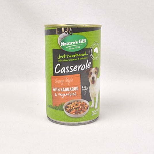 NATUREGIFT Kangaroo And Vegetable Casserole 700g Dog Food Wet Nature's Gift