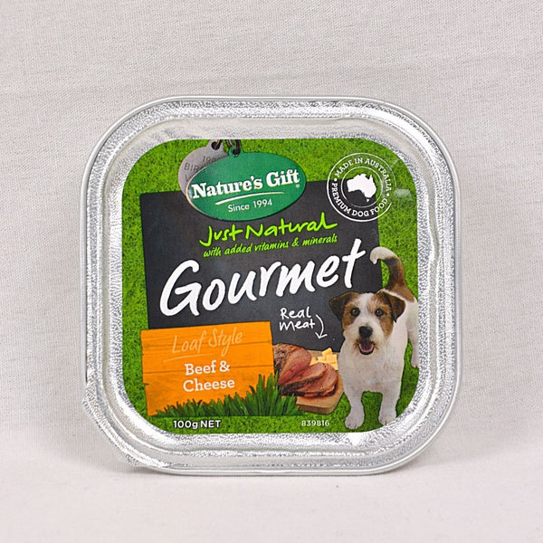 NATURE'S Gift Gourmet Loaf Style Beef and Cheese 100gr Dog Food Wet Nature's Gift
