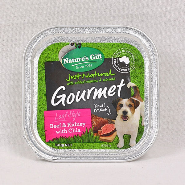 NATURE'S Gift Gourmet Loaf Style Beef, Kidney and Chia 100gr Dog Food Wet Nature's Gift