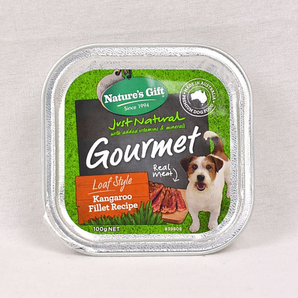 NATURE'S Gift Gourmet Loaf Style Kangaroo Fillet 100gr Dog Food Wet Nature's Gift