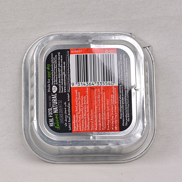 NATURE'S Gift Strips Gravy Style Beef, Potato and Spinach Tray 100gr Dog Food Wet Nature's Gift