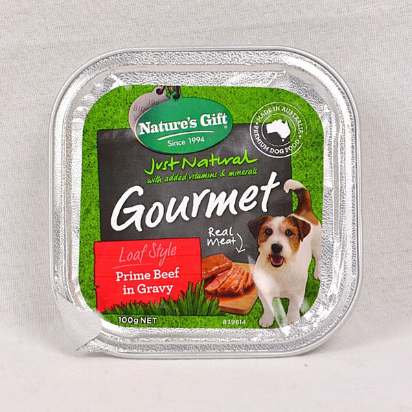NATURESGIFT Gourmet Prime Beef in Gravy 100gr Dog Food Wet Nature's Gift