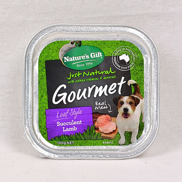NATURESGIFT Gourmet Succulent Lamb Dog Food 100g Dog Food Wet Nature's Gift