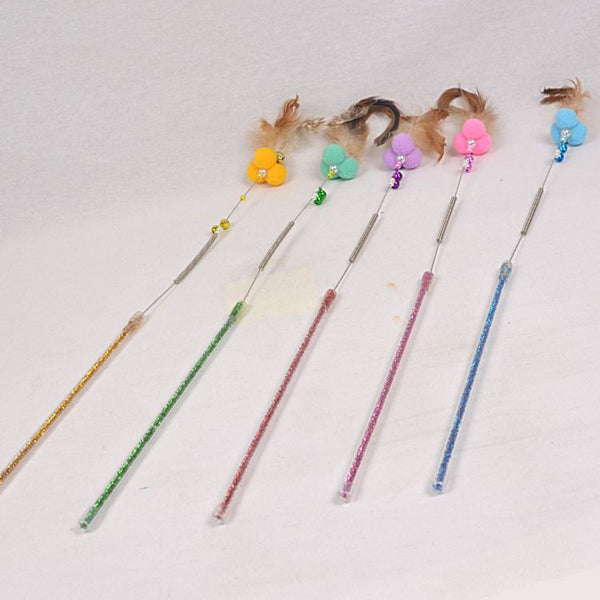NOONA Mame Wand Cat Toy 3 Balls Feather Cat Toy Noona