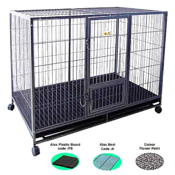 OCTAGON D222PB Kandang Knock Down Plastic Board 155 x 95 x 118 cm Dog Cage Octagon