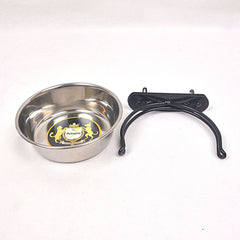 OCTAGON TER01 Stainless Steel Bowl With Hanger 12x3.5cm Pet Bowl Octagon