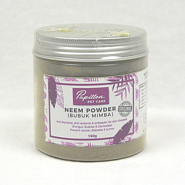 Papillon Anti Bacterial NEEM Powder 150gr Grooming Medicated Care Papillon