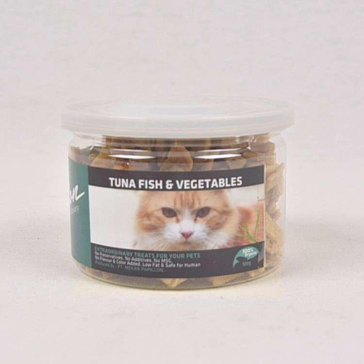 PAPILLON Cat Cookies Tuna Fish and Vegetables 100gr Cat Snack Papillon