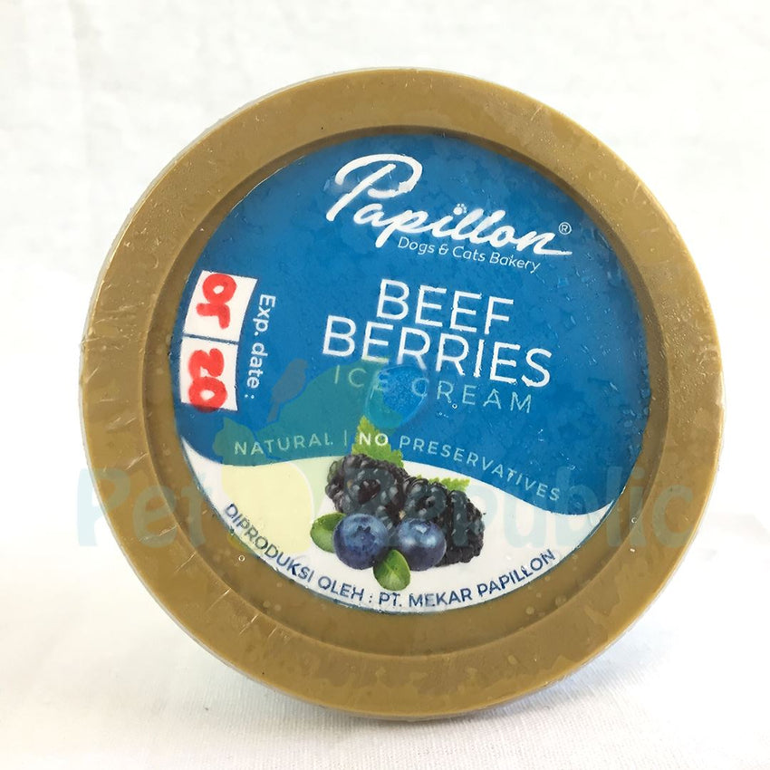 PAPILLON Ice Cream Beef Berries - Pet Republic Jakarta