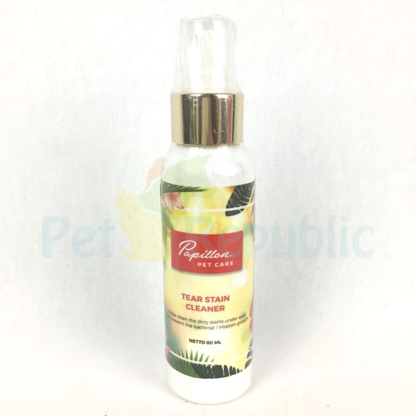 PAPILLON Pet Care Tear Stain Cleaner 80ml - Pet Republic Jakarta