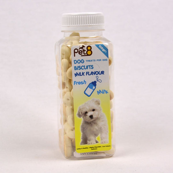 PET8 Dog Bone Biscuit Milk 110gr Dog Snack Pet8
