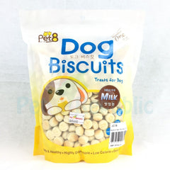 PET8 Dog Round Biscuit Milk 350gr - Pet Republic Jakarta