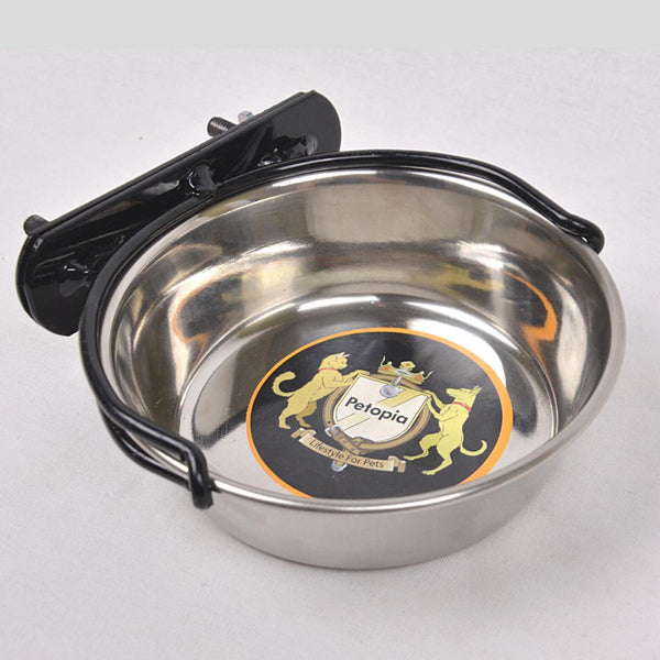 PETOPIA BOWL01 Stainless Bowl with Hanger 12cm Pet Bowl Petopia