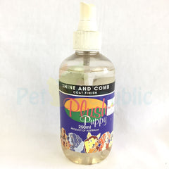 PLUSH PUPPY Shine and Comb Coat finisihing 250ml - Pet Republic Jakarta