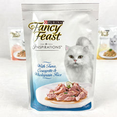 PURINA Fancy Feast Inspiration TUNA,Courgette and Whole Grain Rice Pouch 70gr Cat Food Wet Purina