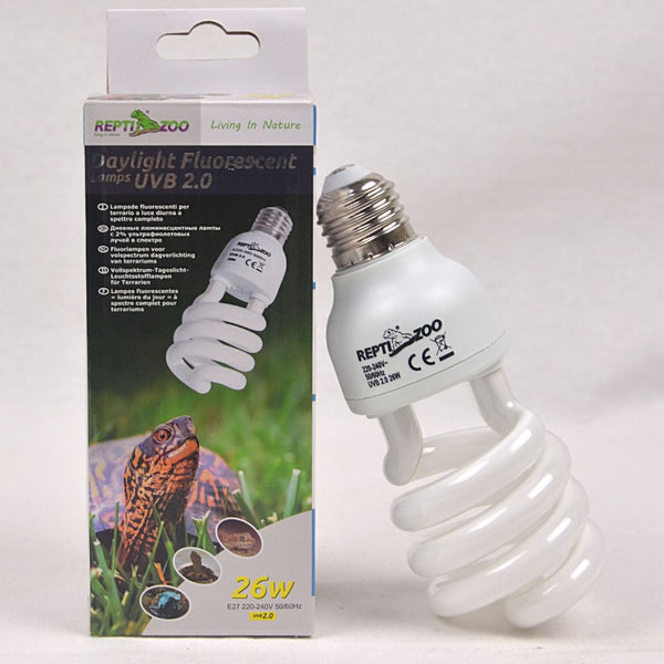 REPTIZOO UVB 2.0 - 26Watt Reptile Heating & Lighting Reptizoo