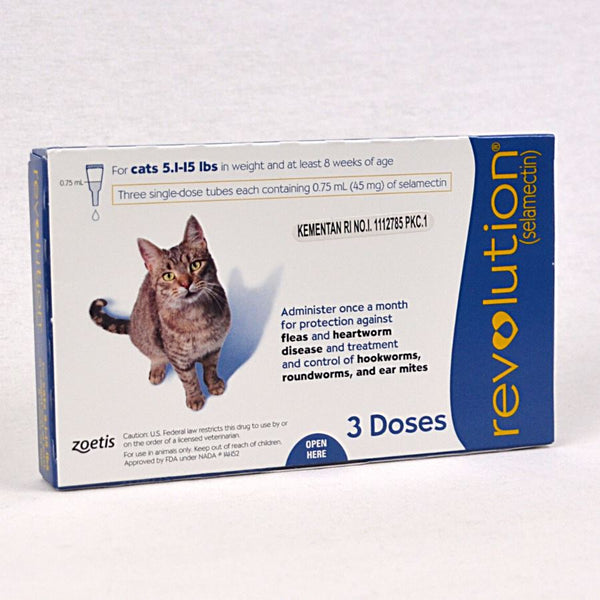 REVOLUTION Blue 45MG 0.75ml Cat 1-15lbs 1pcs Pet Vitamin and Supplement Revolution