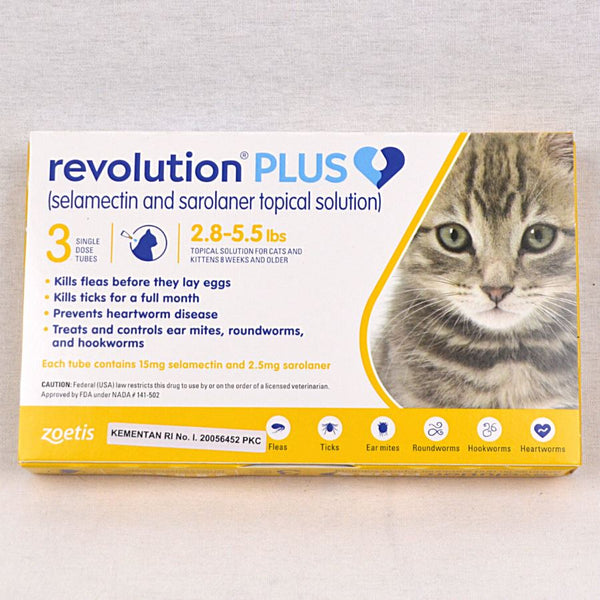 REVOLUTION Cat Gold Plus 0,25ml 1pcs Grooming Medicated Care Revolution