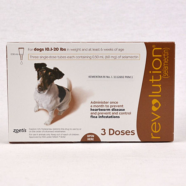 REVOLUTION Dog Flea and Tick Drop BROWN 1pcs Grooming Medicated Care Revolution
