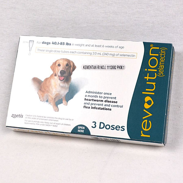 REVOLUTION Dog Flea and Tick Drop TEAL 2.0ml 1pcs Grooming Medicated Care Revolution