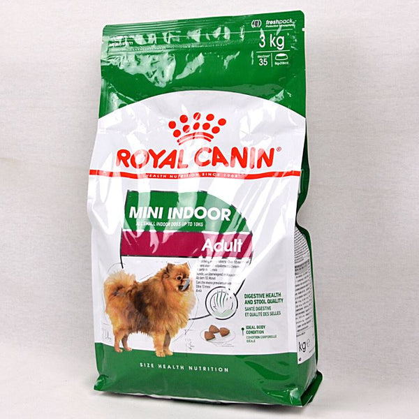 ROYAL CANIN Canine Mini Indoor Adult 3kg Dog Food Dry Royal Canin