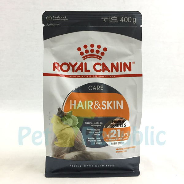 ROYALCANIN Feline Hair and Skin 400gr - Pet Republic Jakarta