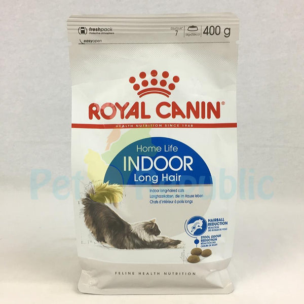 ROYALCANIN Feline Indoor Life Long Hair 400gr - Pet Republic Jakarta