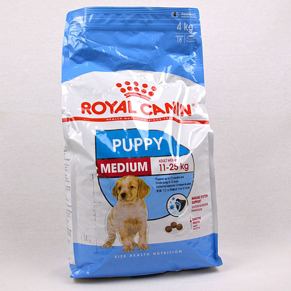 ROYALCANIN Medium Junior 4kg Dog Food Dry Royal Canin