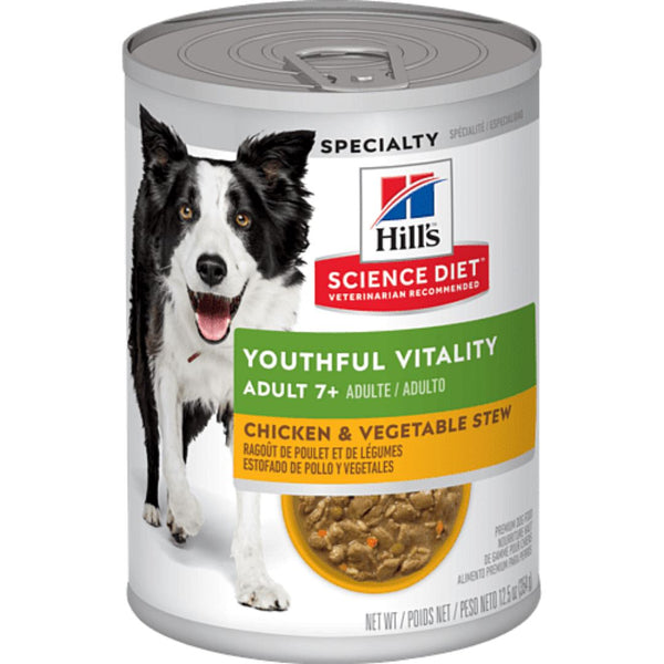 SCIENCEDIET Adult 7+ Youth Vitality Chicken Vegetable Stew 354g Dog Food Wet Science Diet