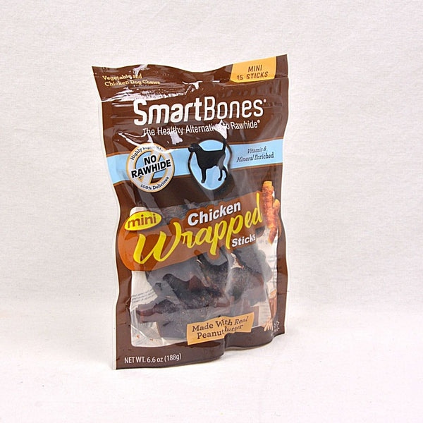 SMARTBONES Chicken Wrapped Peanut Butter Mini 15pcs Dog Dental Chew Smartbones