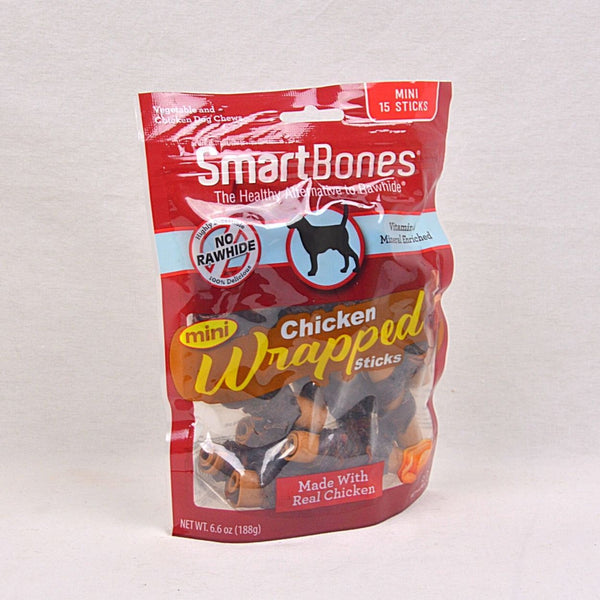 SMARTBONES Chicken Wrapped Stick Mini 15pcs Dog Dental Chew Smartbones