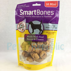 SMARTBONES Dental Chew Bacon and Cheese Mini 16pcs - Pet Republic Jakarta