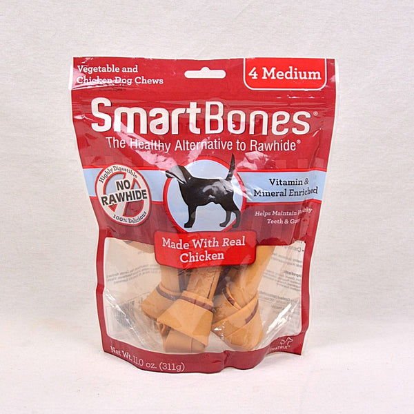 SMARTBONES Dental Chew Chicken Medium 4pcs Dog Dental Chew Smartbones