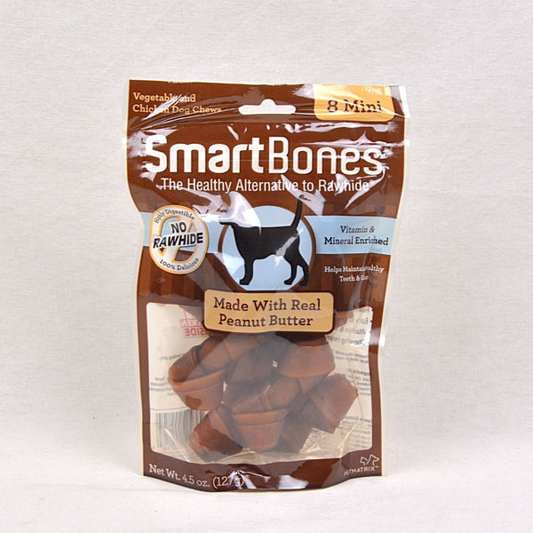 SMARTBONES Dental Chew Peanut Butter Mini 8pcs Dog Dental Chew Smartbones