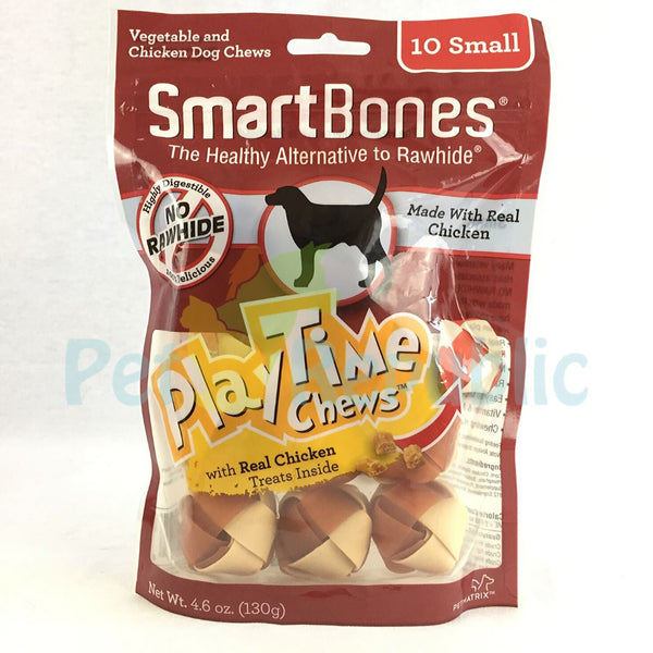 SMARTBONES Dental Chew PLAYTIME Chicken Small 10pcs - Pet Republic Jakarta