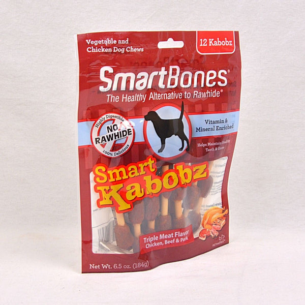 SMARTBONES Smart Kabobz Triple Meat 12pcs Dog Dental Chew Smartbones