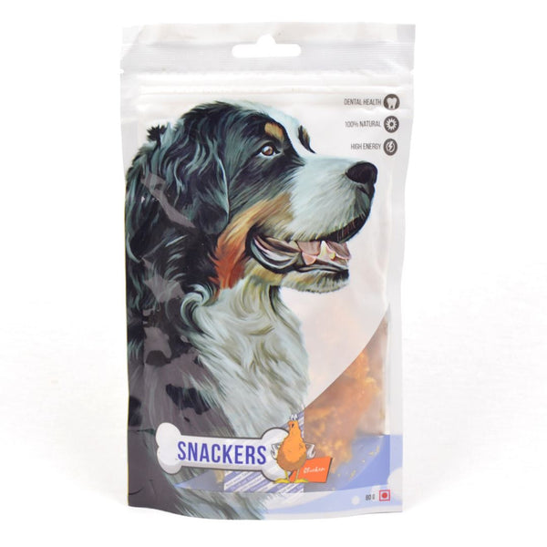 SNACKERS Chicken 80g Dog Dental Chew Snackers Nuggets
