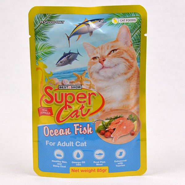 SUPERCAT Adult Pouch 85g Cat Food Wet SuperCat Ocean Fish