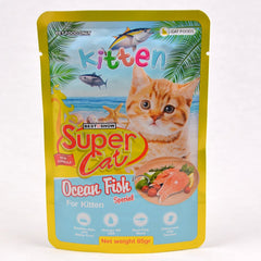 SUPERCAT Kitten Pouch 85g Cat Food Wet SuperCat Ocean Fish