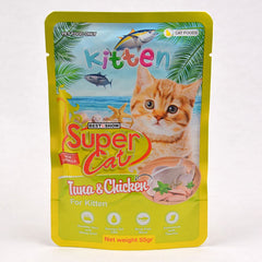 SUPERCAT Kitten Pouch 85g Cat Food Wet SuperCat Tuna & Chicken