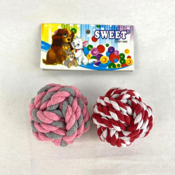 SWEETBALLS MCA950 Knotted Ball Rope 7cm Dog Toy sweet